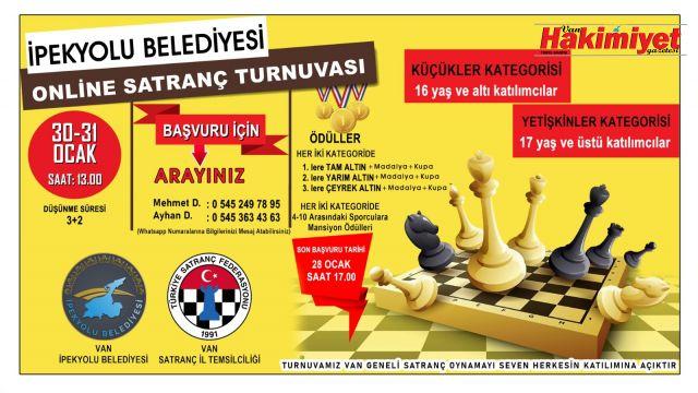 İpekyolu Belediyesi satranç turnuvası düzenliyor