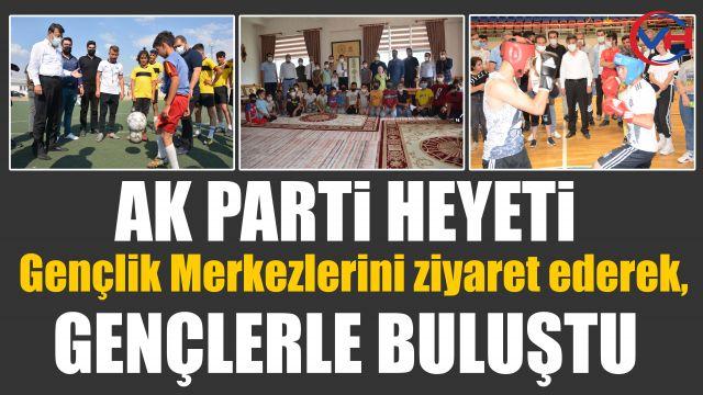 AK Parti Van İl Başkanı Türkmenoğlu, gençlik merkezlerini ziyaret etti