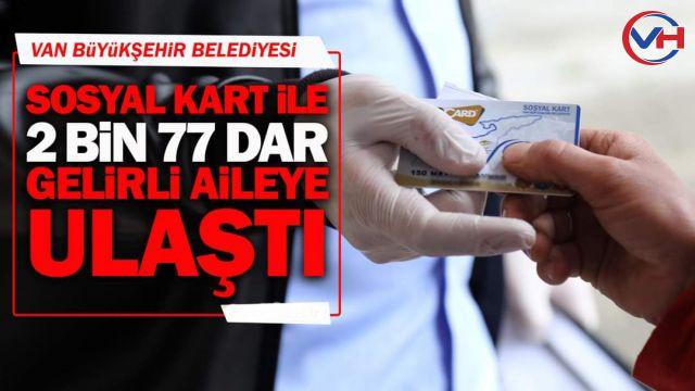 Büyükşehir, Sosyal Kart ile 2 Bin 77 Dar Gelirli Aileye Ulaştı
