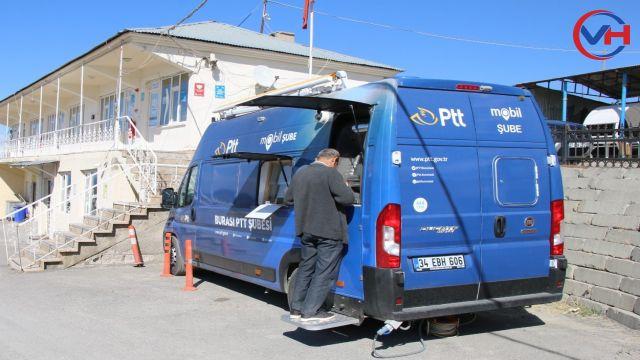Edremit'te PTT Mobil Aracı Hizmet Vermeye Başladı