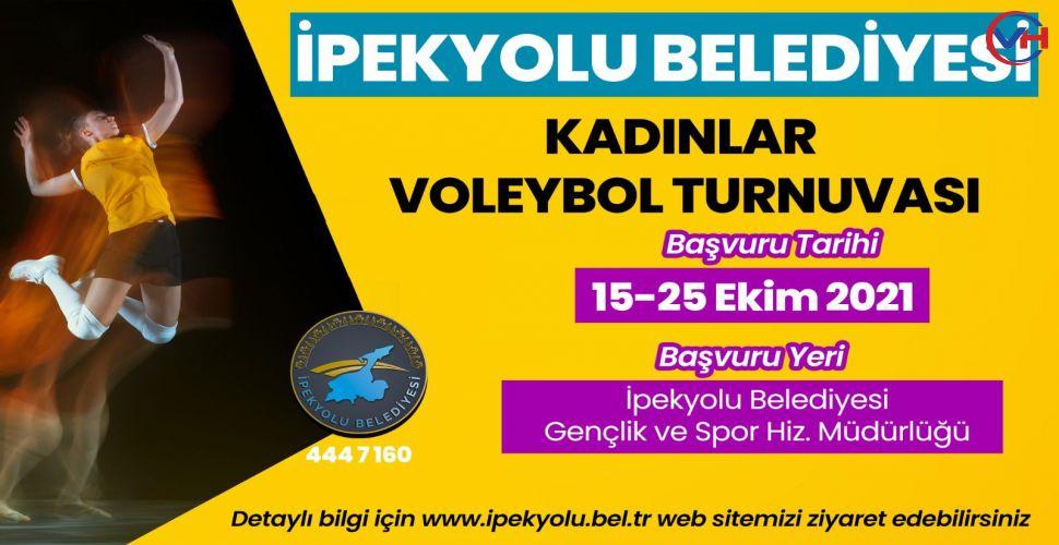 İpekyolu Belediyesi 'Kadınlar Voleybol Turnuvası' Düzenliyor