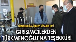 AK Parti Van İl Başkanı Kayhan Türkmenoğlu, İŞGEM'i ziyaret etti