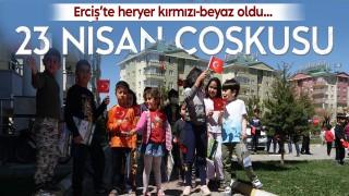 Erciş'te 23 Nisan coşkuyla kutlandı