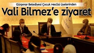Gürpınar Belediyesi Çocuk Meclisi üyelerinden Vali Bilmez'e ziyaret