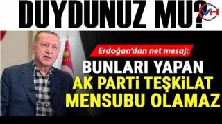 Cumhurbaşkanı Erdoğan, AK Parti teşkilatlarını uyardı! Kibirlenmeyin..